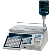 CAS Corporation Electronic Label Printing Scale 30LB with Pole Display LP-1000NP
