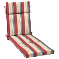 Arden Selections Keeley Stripe 72 x 21 in. Outdoor Chaise Lounge Cushion