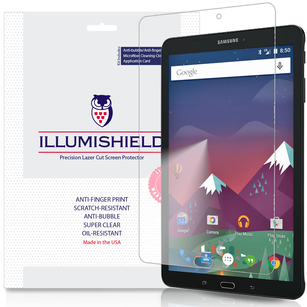 2x iLLumiShield Ultra Clear Screen Protector Cover for Samsung Galaxy Tab E 8.0
