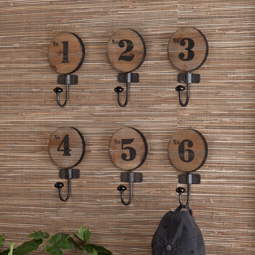 Southern Enterprises Wyatt 6-Piece Numbered Hook Set