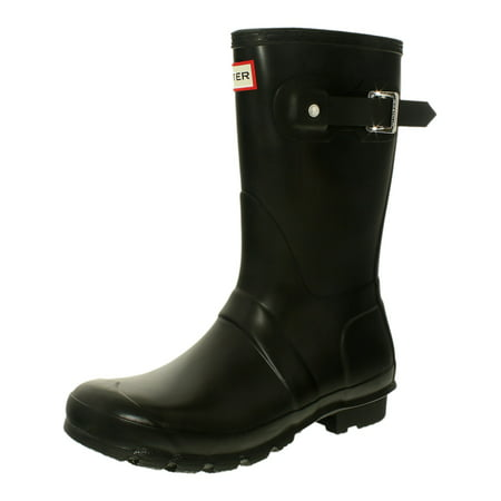 Hunter Women's Original Short Rain Boot Chocolate Lizard Boots