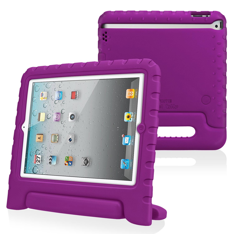 Fintie Apple iPad 2/ iPad 3/ iPad 4 Kiddie Case - Ultra Lightweight Shock Proof Kids Friendly Cover, Purple
