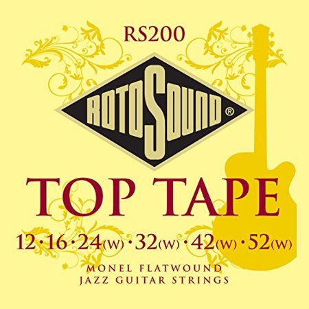 rotosound rs200 top tape monel flatwound electric guitar string (12 16 24 32 42 52) Flatwound Guitar Strings