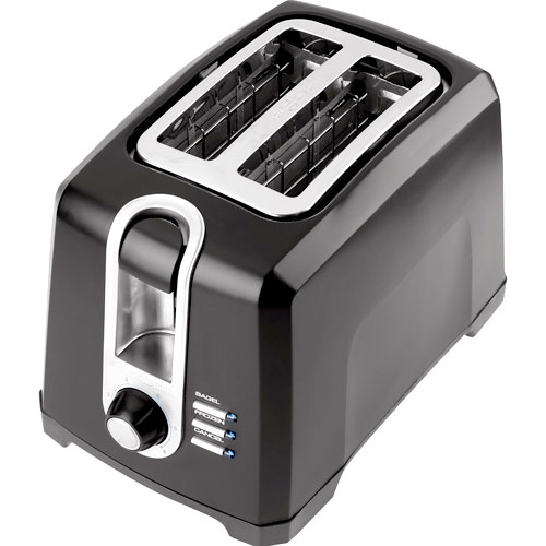 Black & Decker 2-Slice Toaster With Electronic Shade Control, Black