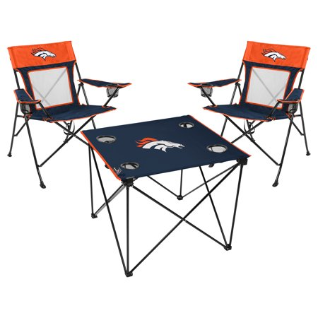 Denver Broncos Rawlings Deluxe 3-Piece Tailgate Chair & Table Kit - No Size