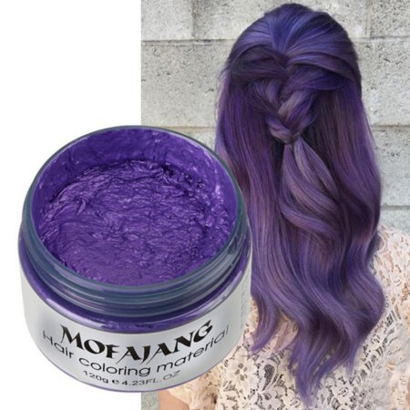 Hair Wax Dye Styling Cream Mud, Natural Hairstyle Color Pomade, Washable