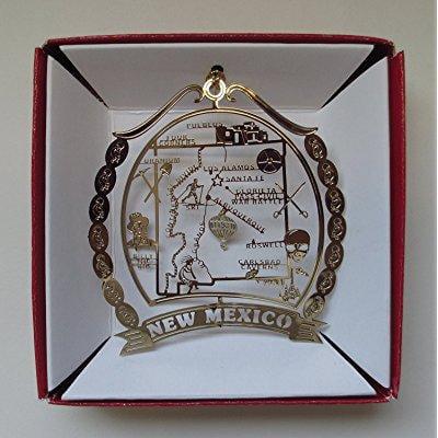 new mexico brass christmas ornament souvenir by nations treasures (Souvenir Nation)