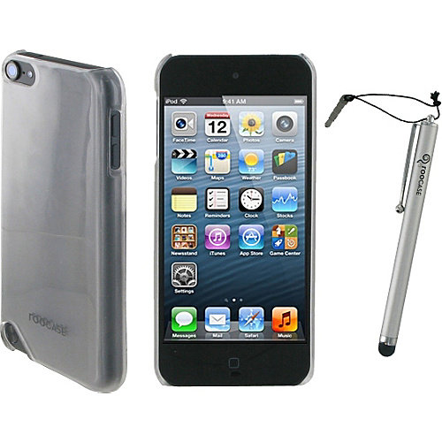 rooCASE Ultra Slim Frost Shell Case w/ Stylus for iPod Touch 5
