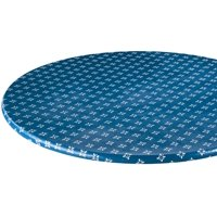 Heritage Vinyl Elastic Table Cover with Fleece Backing in 3 Sizes, Reusable