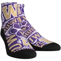 Washington Huskies Rock Em Socks Youth Logo Sketch Quarter-Length Socks - No Size