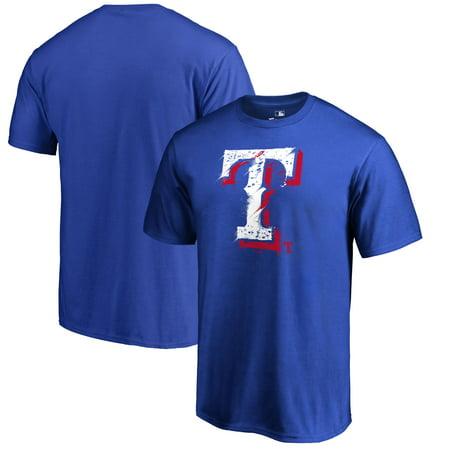 Texas Rangers Fanatics Branded Splatter Logo T-Shirt - - Ny Rangers Logo