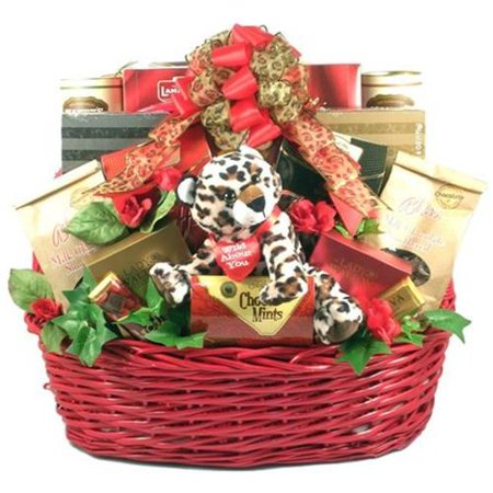 Gift Basket Drop Shipping Wiabyo Wild About You  Deluxe Valentines Day Gift Basket