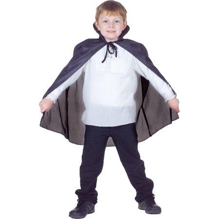 Morris costumes UR25927 Cape Taffeta Child Black