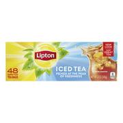 (2 Pack) Lipton Unsweetened Black Family Black Iced Tea Bags, 48 ct