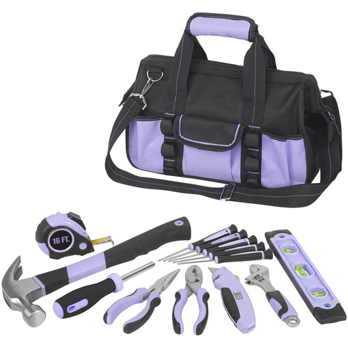 WorkPro 54pc Lady Tool Set, Lavender