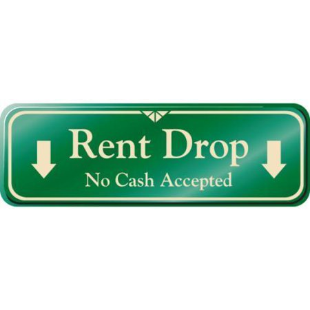 rent and drop rent drop interior sign ivory 9 x 3 hd supply rent and drop service client. Black Bedroom Furniture Sets. Home Design Ideas