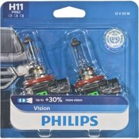Philips Vision Headlight H11, Pgj19-2, Glass, Always Change In Pairs!