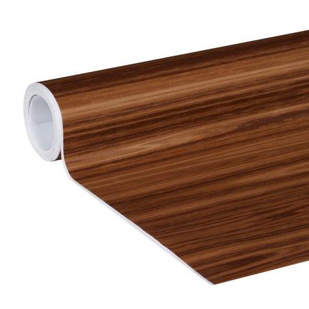 EasyLiner Adhesive Laminate 20 In. x 15 Ft. Shelf Liner, Dark Oak ()