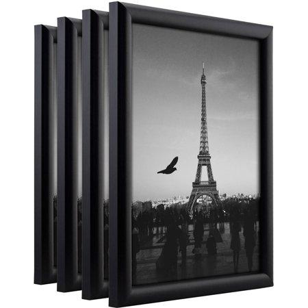 Composite Set (Craig Frames Bullnose Contemporary Black Composite PictureFrame, Set of 4)