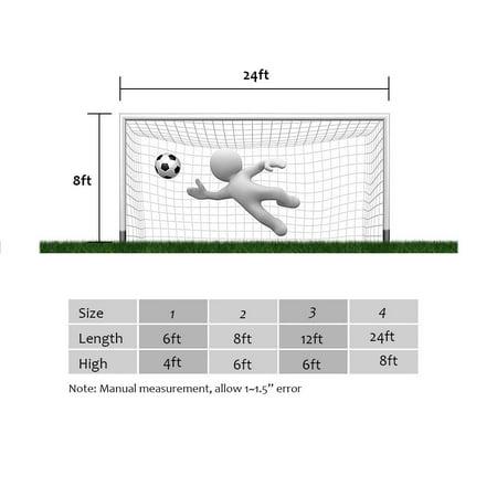 Yosoo Filet de but de football de remplacement de sports de football du football de taille normale net pour l'entraînement de match de sports, équipement de football, filet de but - image 4 de 8