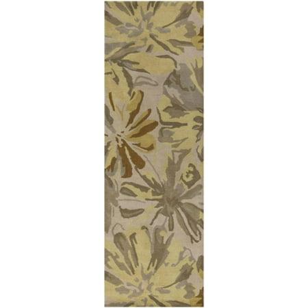 3 X 12 Daisy Dream Gray Amp Yellow Flower Rectangular Wool