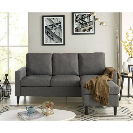 Mainstays Apartment Reversible Sectional, Multiple Colors ()