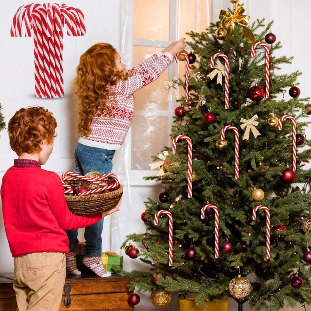 Tree Christmas Ddeg 10x Acrylic Decoration Hanging Cane Candy Xmas Ornaments