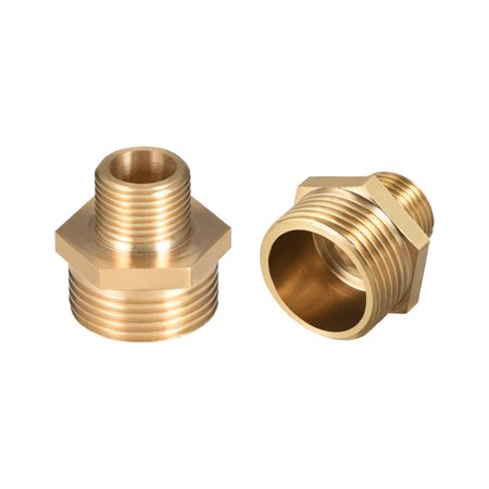 """Brass Pipe Fitting Reducing Hex Nipple 3/8""""x 3/4"""" G Male Pipe Brass Fitting 2pcs - image 4 of 4"""