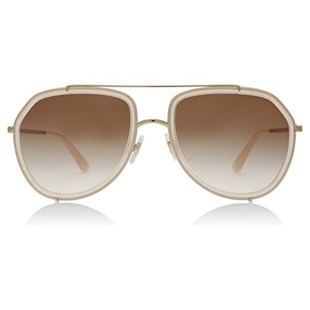8813b0efa7 Dolce and Gabbana 2161 129813 Opal Pink   Pink Gold 2161 Aviator Sunglasses  Len - Walmart.com