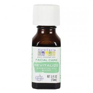 Aura Cacia Facial Massage Oil - Revitalize Essential Oil Blend - 0.5 FL oz. Revitalizing Essential Oil Blend