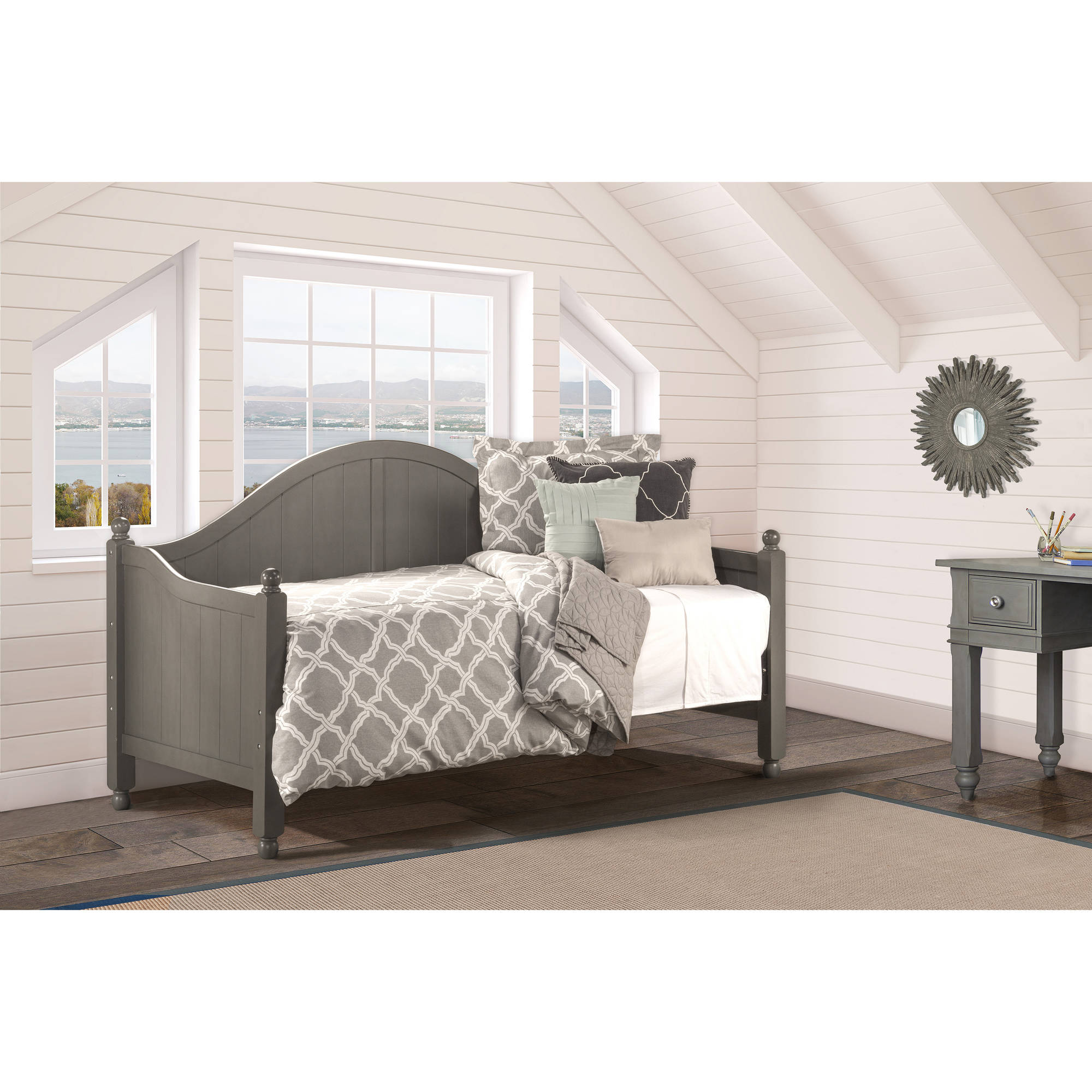 Augusta Day Bed with Day Bed Suspension Deck, Stone by Hillsdale Furniture