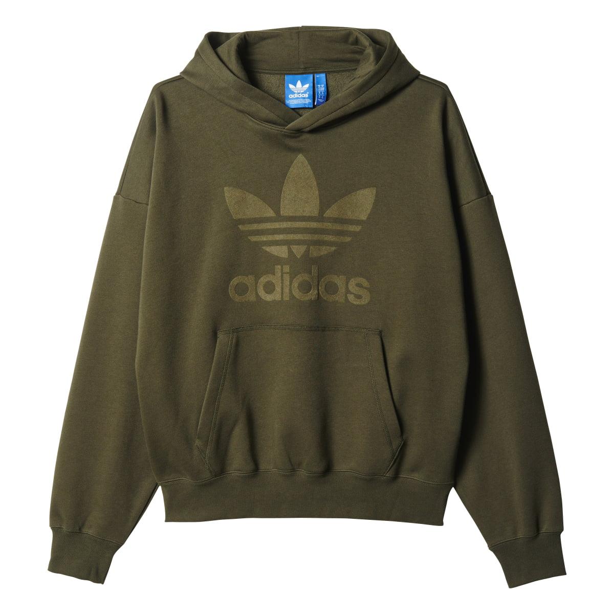 Adidas Originals Trefoil Logo Men\'s Pullover Hoodie Night Cargo ...