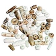 Creativity Street Natural Mixed Bone Beads, 8 Oz.