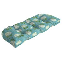 Mainstays Solid Turquoise 18 x 41.5 in. Outdoor Wicker Settee Cushion