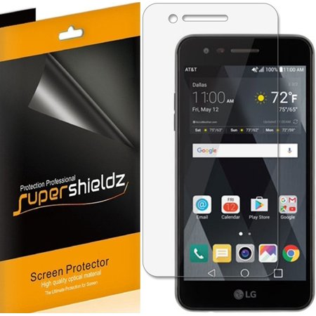 [6-Pack] Supershieldz for LG Phoenix 3 Screen Protector, Anti-Bubble High Definition (HD) Clear - Phoenix Coyotes Shield