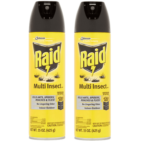 Raid Multi Insect Killer 7 15oz (2 pack) (Bed Bug Killer Dust)
