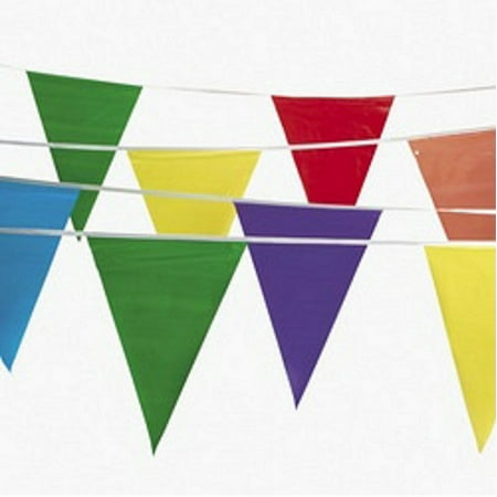 100' Multi Color Flag Pennant Banner Party Decor