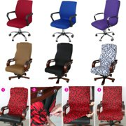 Chair Cover, S/M/L Rotating Armchair Slipcover Stretchable Office Computer Chair Cover Elastic Arm Chair Seat Cover Protector Cover with Side Zipper Design
