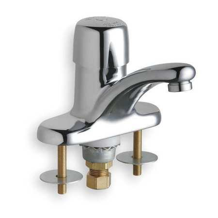 CHICAGO FAUCETS Faucet,Metering,Push,1/2 In. Male NPSM (Metering Faucet)