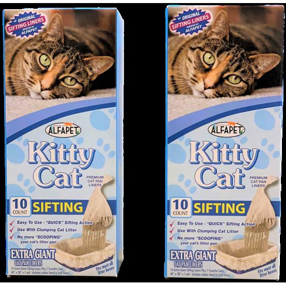Alfapet, Kitty Cat Sifting Litter Box Liners, 10 count - Walmart com