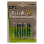 Paradise Garden Lighting 14430 400 mAh Batteries - 4 Pack