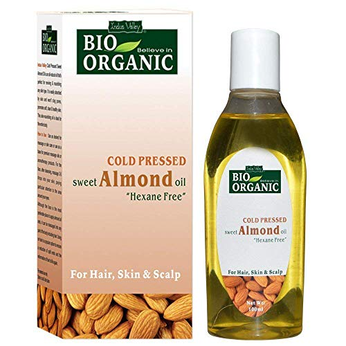 Indus Valley Organic Roghen Badam Cold Pressed Sweet Almond Oil For Hair, Skin and Body Care -100 Ml