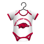 "Arkansas Razorbacks 4"" x 3"" Bodysuit Baby Shirt Ornament"