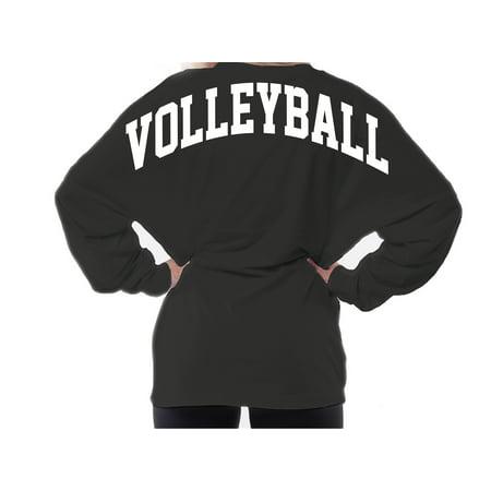 Volleyball Team Spirit Wear Sport's Practice Game Day Oversized Boyfriend Jersey](School Spiritwear)