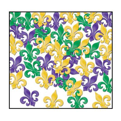 Beistle 57814-GGP Fanci-Fetti Fleur De Lis - Pack of 12