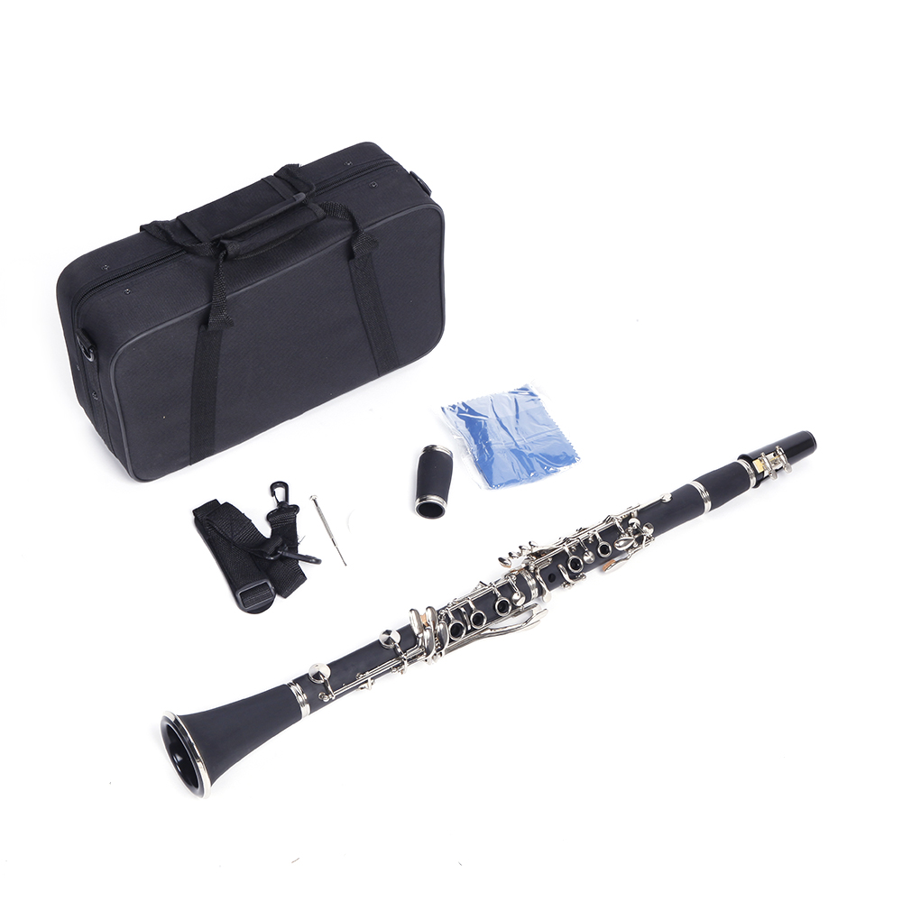 Ktaxon New Nickel-plated Bakelite Black Student Bb Clarinet for Beginner