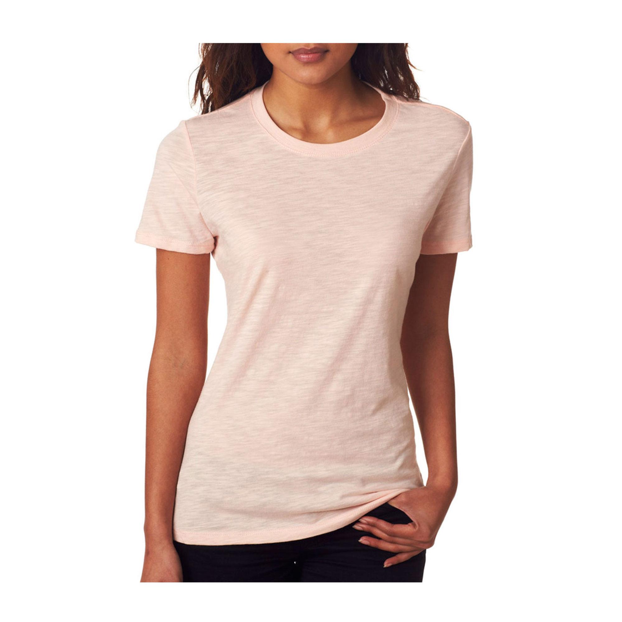 Next Level Women's Rib Collar Preshrunk Satin Label T-Shirt, Style NL6810
