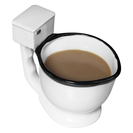 Evelots Toilet Mug Ceramic Coffee, Tea or Beverage Cup Gag Gift, - Retirement Gag Gifts
