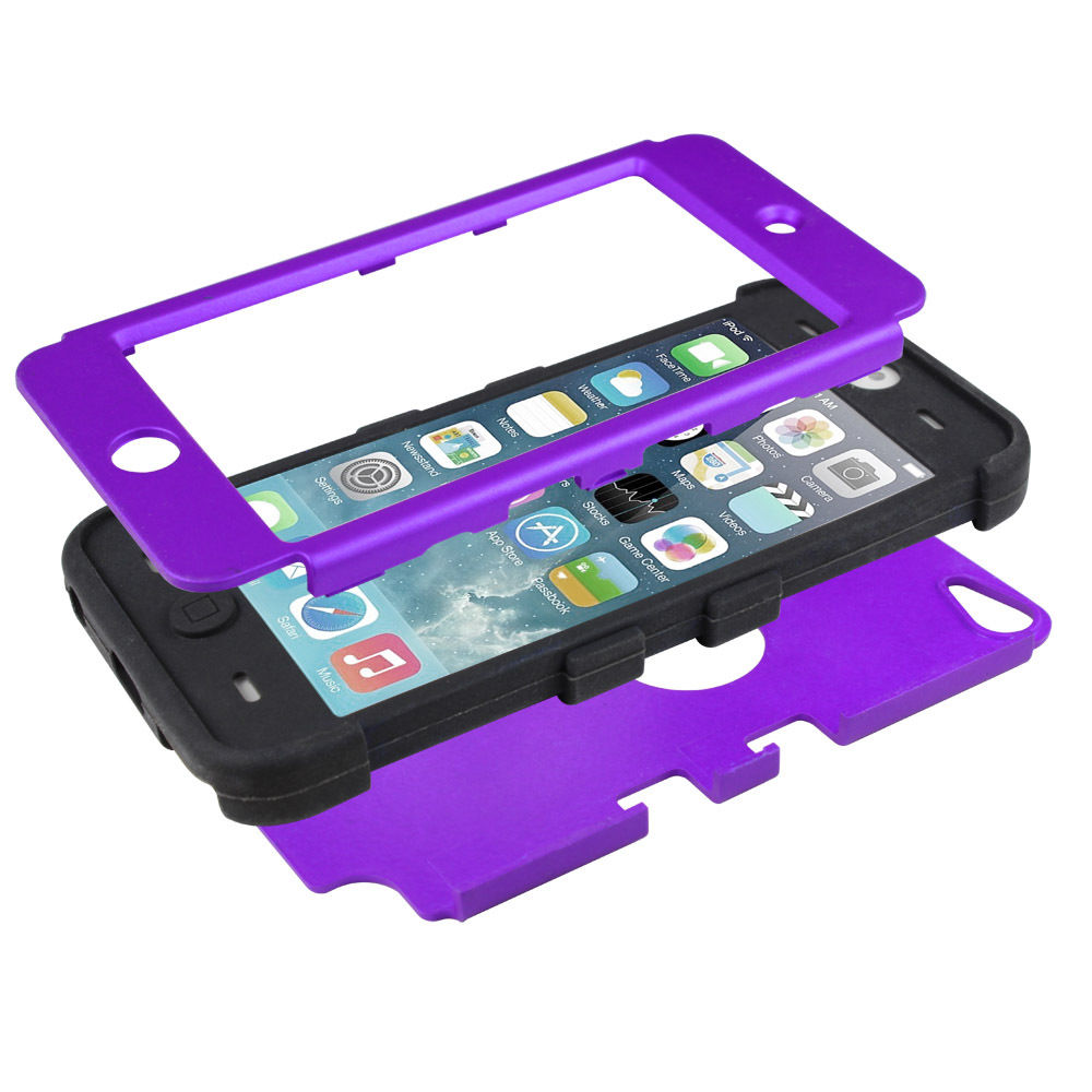 LIVEDITOR Heavy Duty Shock Proof Case Cover for Apple iPod Touch 6G 5th Generation(Purple) - image 4 of 6