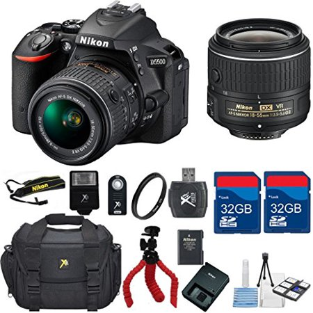 Nikon D5500 Dx Dslr   18 55 Vrlens   Top Value Bundle   International Version  No Warranty